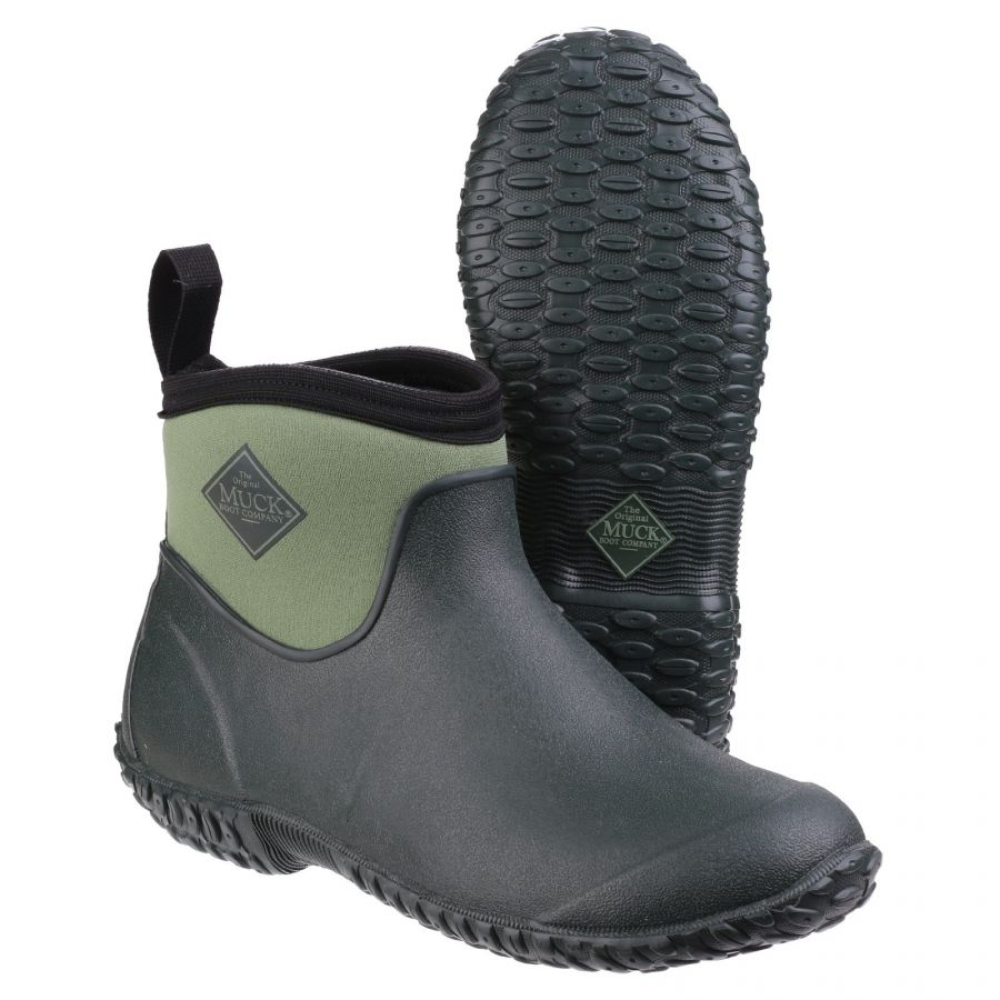 Muckster II Green Ankle Wellington Boot by Muck Boot - Sizes 3-9