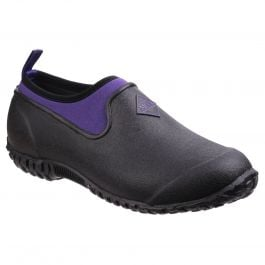 Muckster II Black / Purple Women's Low Garden Shoes by Muck Boot - Sizes 3-9