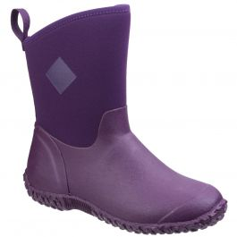 Muckster II Purple RHS Print Women's Mid Wellington Boot by Muck Boot - Sizes 3-9