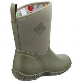 Muckster II Green / Tomatoes RHS Print Women's Mid Wellington Boot by Muck Boot - Sizes 3-9