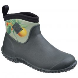 Muckster II Green / Citrus RHS Print Women's Wellington Boot by Muck Boot - Sizes 3-9
