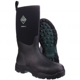 Derwent II Black Unisex Wellington Boot by Muck Boot - Sizes 4-13