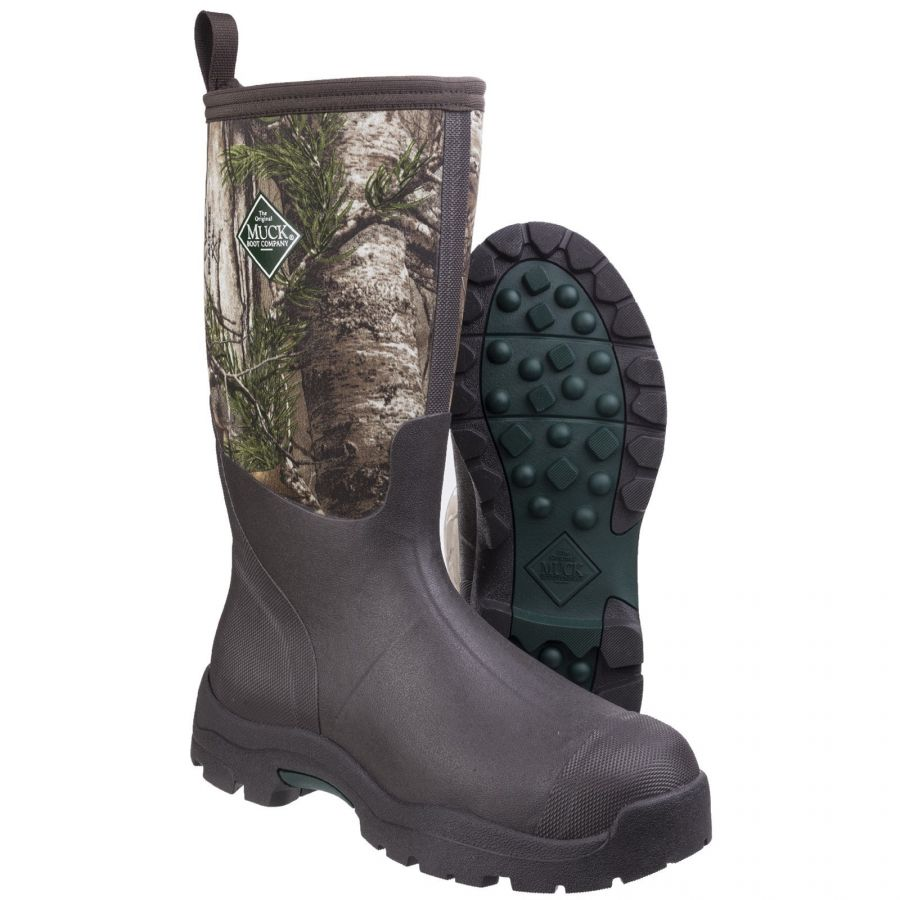 Derwent II Camouflage Unisex Wellington Boot by Muck Boot - Sizes 4-13