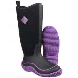 Hale Black / Purple Women's Wellington Boot by Muck Boot - Sizes 3-9