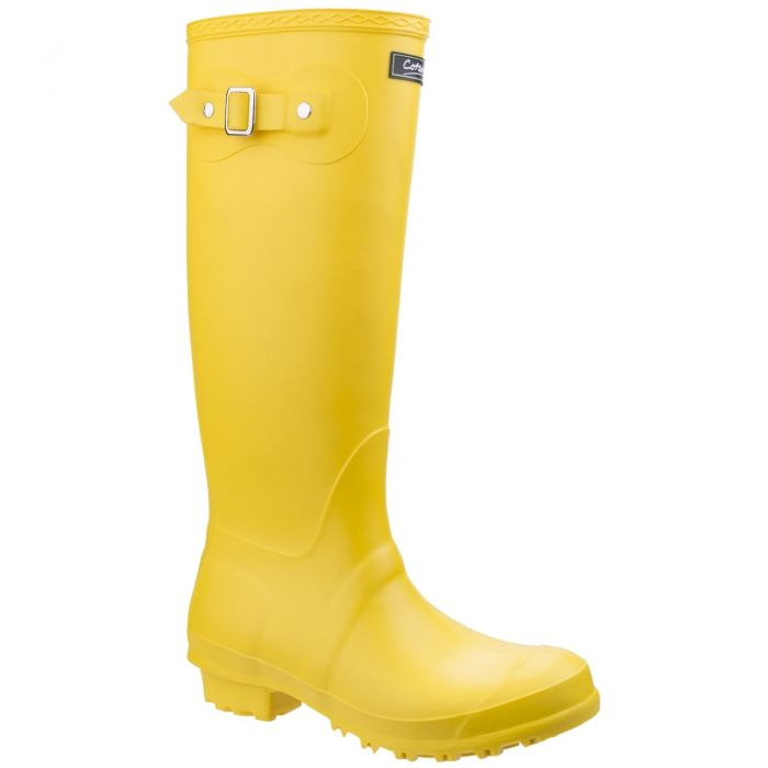 Sandringham Yellow Women's PVC Wellington by Cotswold - Sizes 3-9