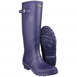 Sandringham Purple Women's PVC Wellington by Cotswold - Sizes 3-9