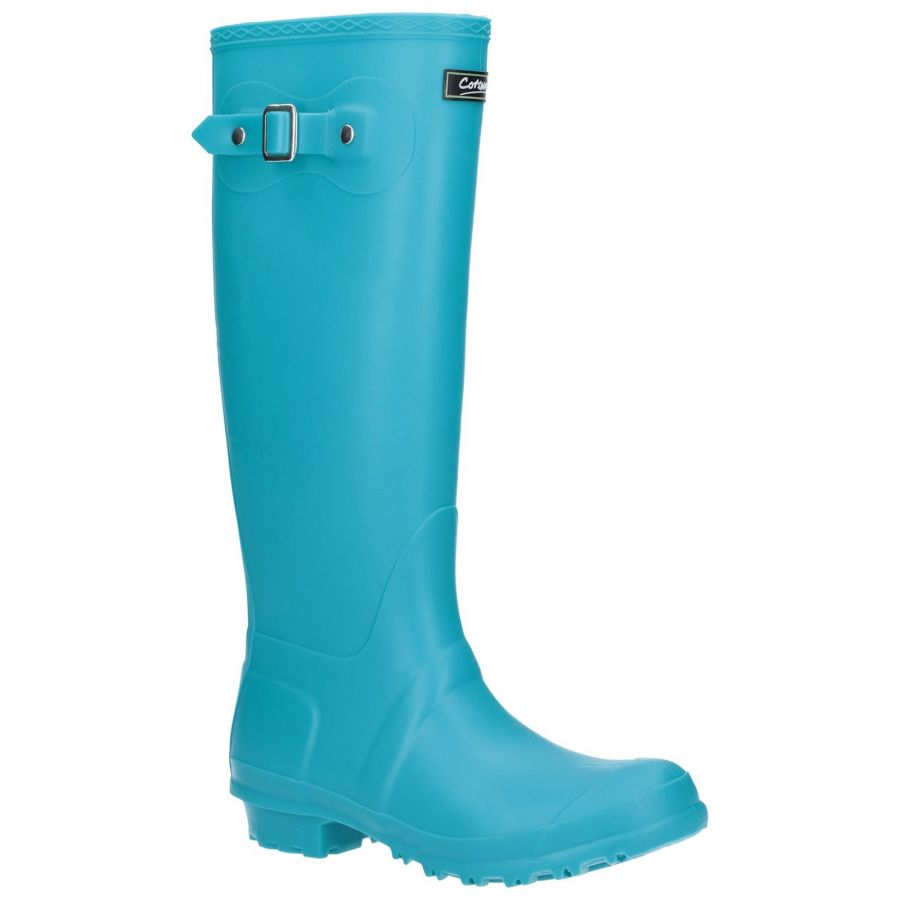 Sandringham Turquoise Women's PVC Wellington by Cotswold - Sizes 3-9