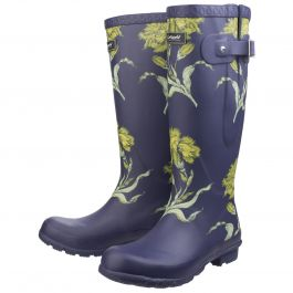 Windsor Flower Print Women's Patterned Wellington by Cotswold - Sizes 3-7