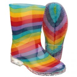 Rainbow Childrens PVC Wellington by Cotswold - Sizes 4 - 13.5