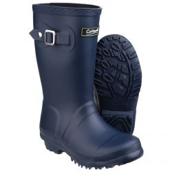 Buckingham Navy Children's PVC Wellington by Cotswold  - Sizes 7.5-2