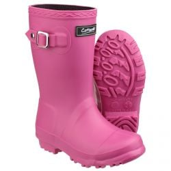 Buckingham Fuchsia Children's PVC Wellington by Cotswold - Sizes 7.5 - 2