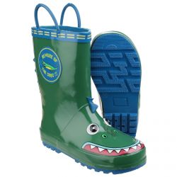 Puddle Boot Crocodile Childrens Pvc Wellington by Cotswold - Sizes 4.5 - 13