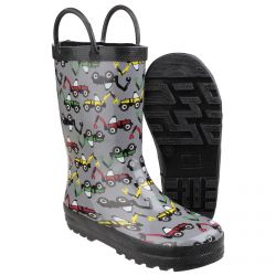 Puddle Boot Digger Children's PVC Wellington by Cotswold- Sizes 4.5 - 13