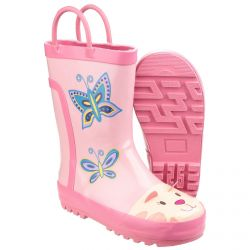 Puddle Boot Pink Children's PVC Wellington by Cotswold - Sizes 4.5 - 13