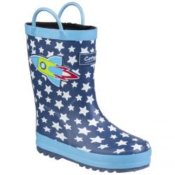 Sprinkle Rocket Print Childrens Wellingtonby Cotswold - Sizes 4.5- 13