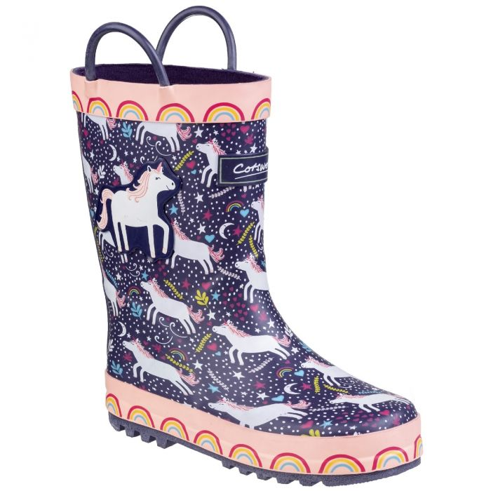 Sprinkle Unicorn Print Children's Wellington by Cotswold - Sizes 4.5- 13