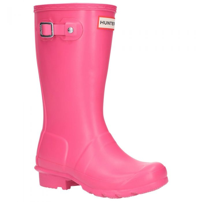 Kids Bright Pink Wellington By Hunter - Sizes 4 - 9