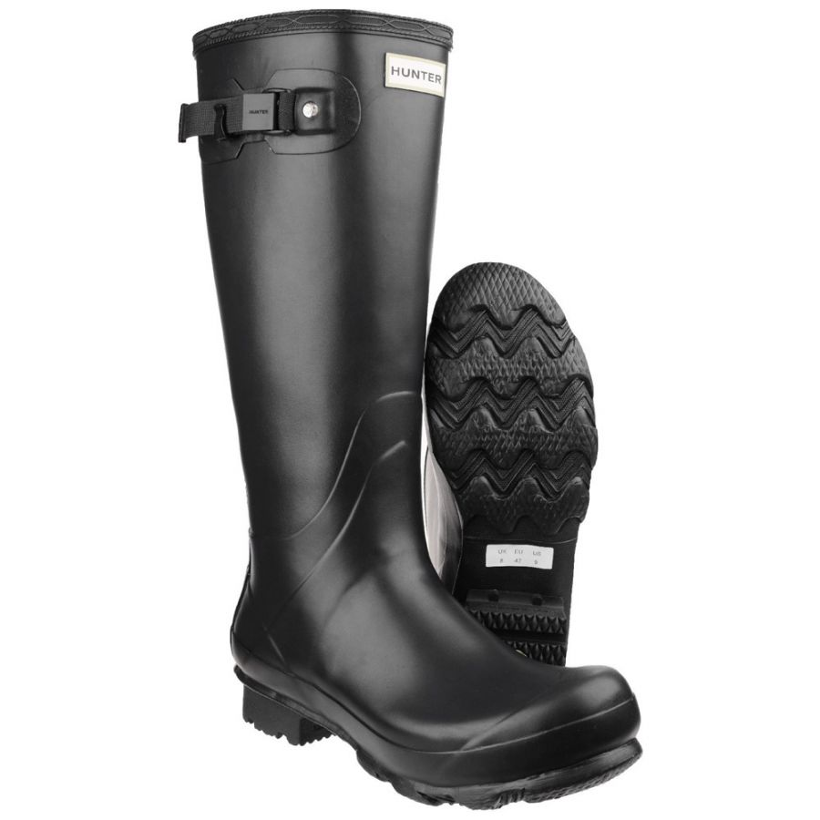 Mens Black Norris Wellington By Hunter - Sizes 3 - 12