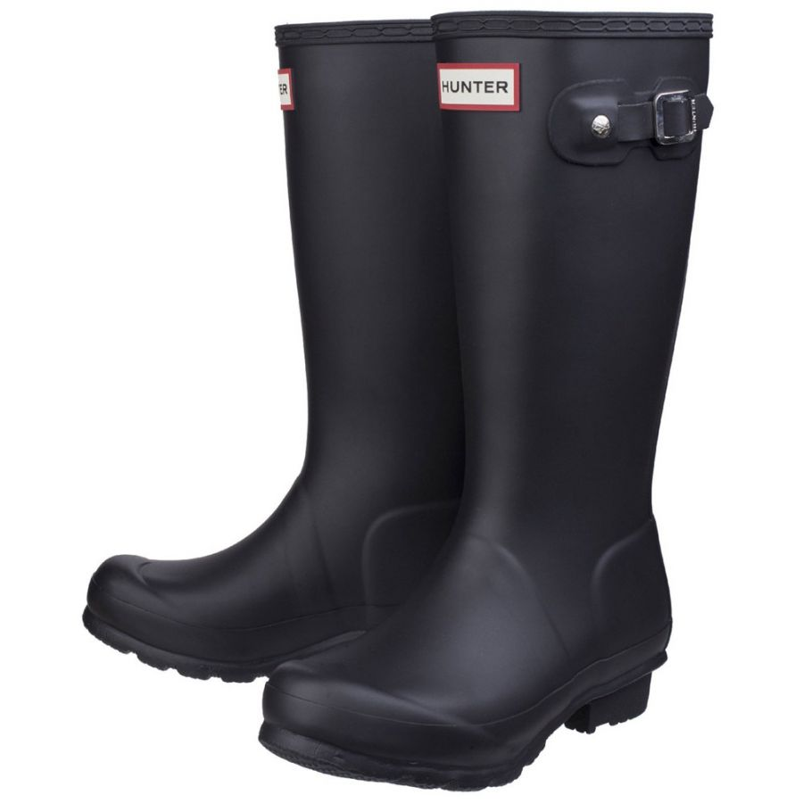 Kids Black Original Wellington By Hunter - Sizes 1-13