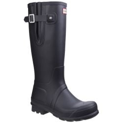 Men's Black Side Adjustable Wellington By Hunter - Sizes 7 - 12