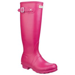 Women's Bright Pink Tall Wellington By Hunter - Sizes 3 - 8