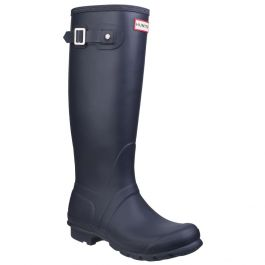 Women's Navy Tall Wellington By Hunter - Sizes 3 - 8