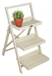 Cream Outdoor Stepped Plant Stand, Cream - 90.5cm