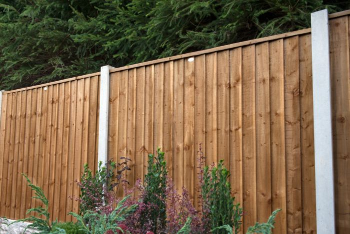 6ft x 5ft Fence Panel Pack of 3 - Pressure Treated Featheredge (Dark Brown)