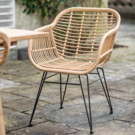 Set of 2 Hampstead All-Weather Bamboo Chairs