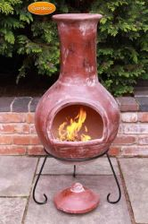 Colima Clay Chiminea By Gardeco - Large and X-Large Sizes