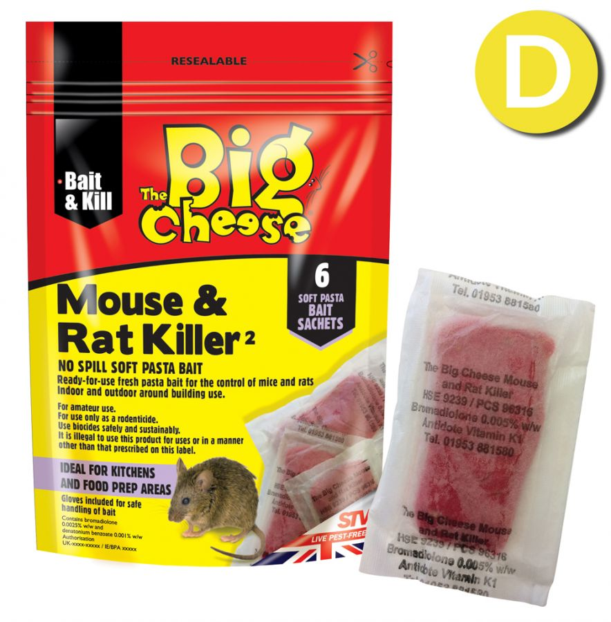 Rat & Mouse Killer Pasta Sachets - 6 Pack