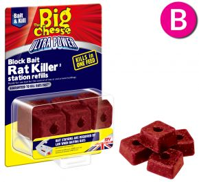 Ultra Power Block Bait Killer Station Refills - 6 x 20g Blocks
