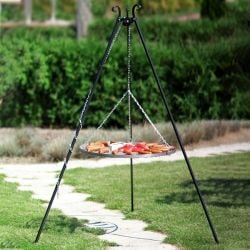 Norfolk Leisure Black Steel Grate Tripod Grill