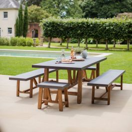 Chilson 6 Seater Table and Bench Set