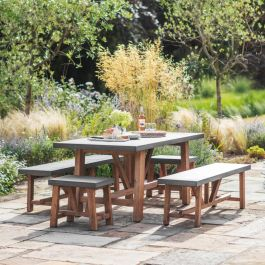 Chilson 4 Seater Table and Bench Set