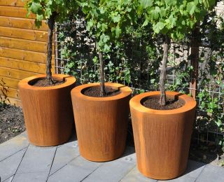 100cm Cado Corten Steel Pot By Adezz