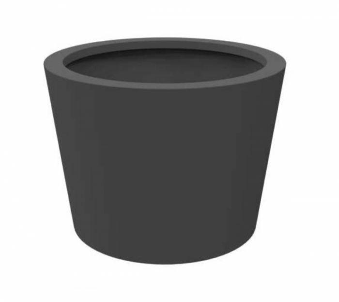 100cm Cairo Powder Coated Aluminium Cone Planter In Black By Adezz