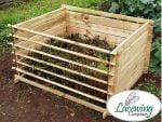 Easy-Load Wooden Compost Bin - Large  - 718 Litres - by Lacewing™
