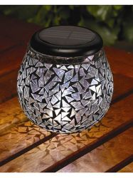 Smart Solar Mosaic Table Lanterns - Pack of 2
