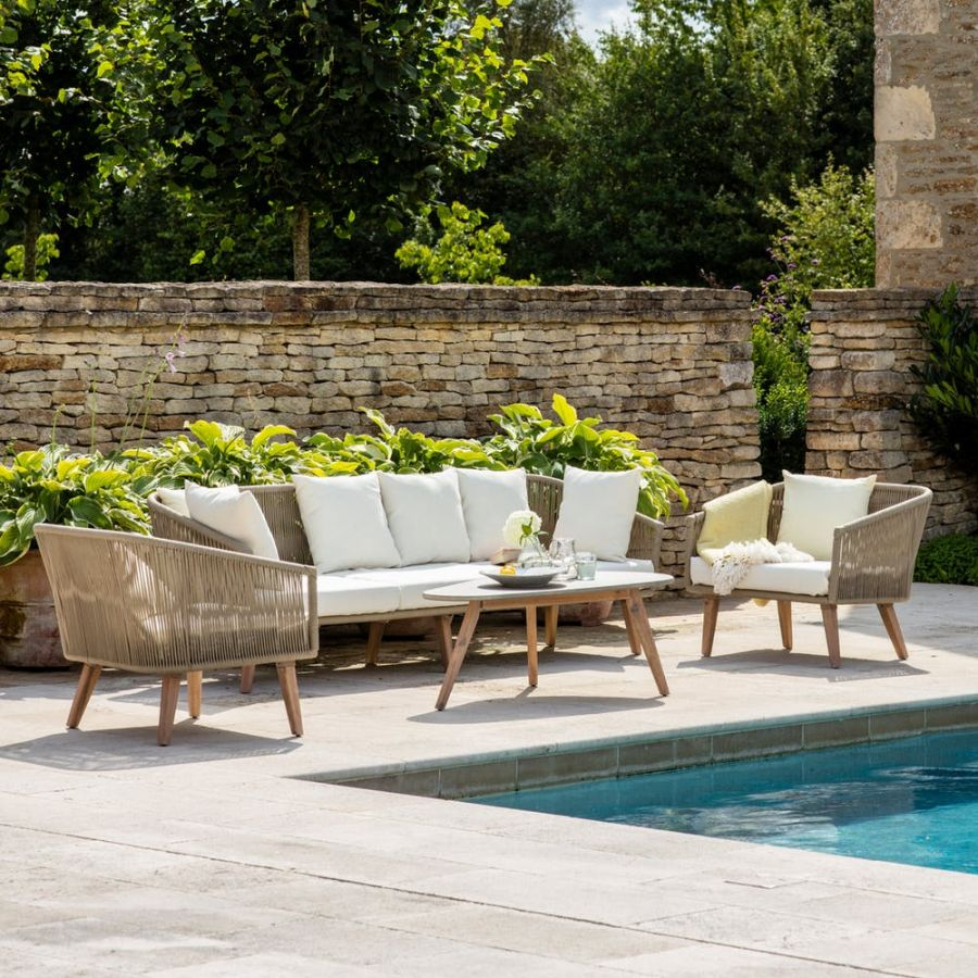 Luxury Colwell Sofa Set Five Seater Rope Patio Outdoor