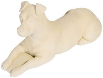 Lying Dog Stone Figurine