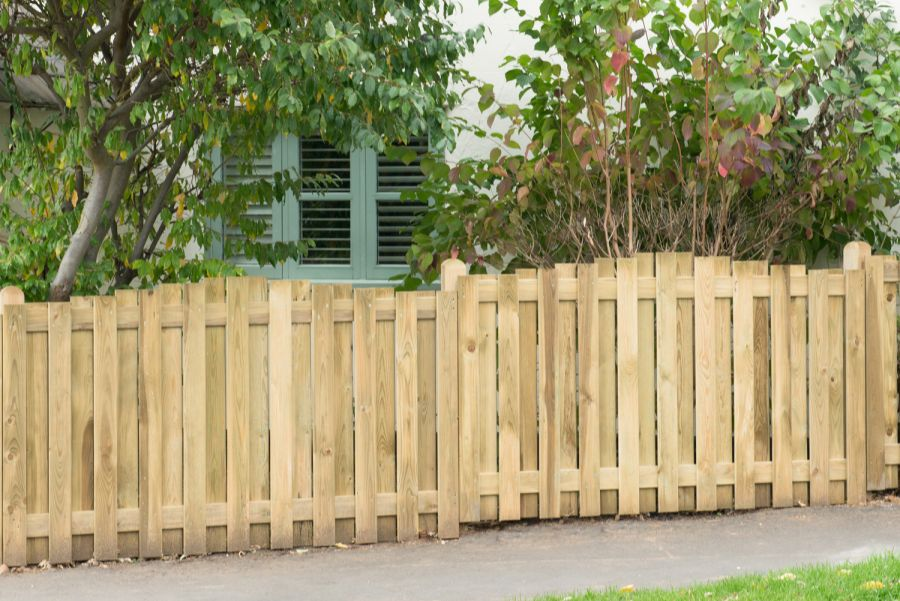 6ft x 3.5ft Fence Panel Pack of 3 - Pressure Treated Decorative Hit and Miss Domed Top