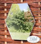 11¾in Small Hexagonal Silver Mirror - by Reflect™