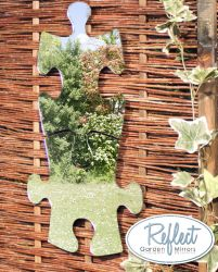 15in Puzzle Acrylic Silver Garden Mirror - by Reflect™