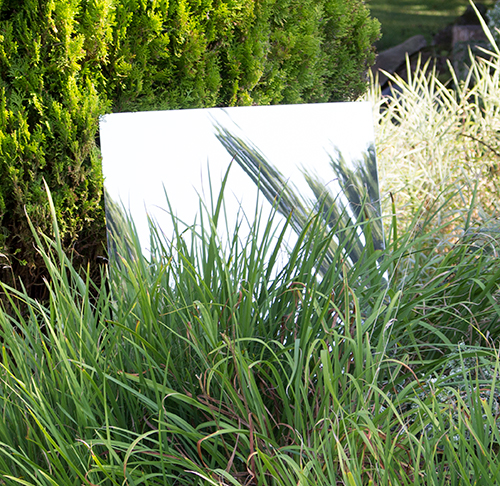 2ft 11in x 1ft 5in Small Rectangular Garden Mirror - by Reflect™