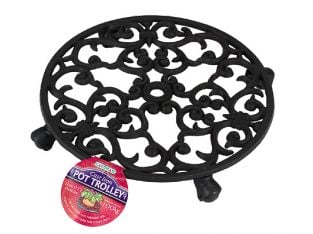 Cast Iron Plant Pot Mover / Trolley 31cm (12ins)