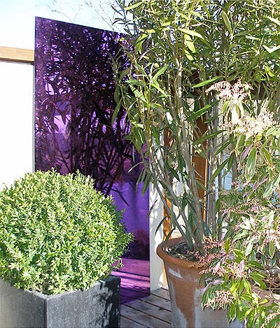 4ft x 2ft Set of 2 Medium Purple Garden Mirrors