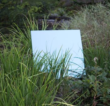 4ft x 2ft Medium Blue Garden Mirror