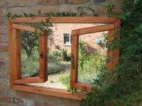 2ft 2in x 3ft 2in Garden Mirror Illusion � Open Double Window