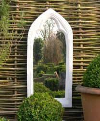 2ft 7in x 1ft 1in Plain Gothic Window Arch Outdoor Glass Mirror
